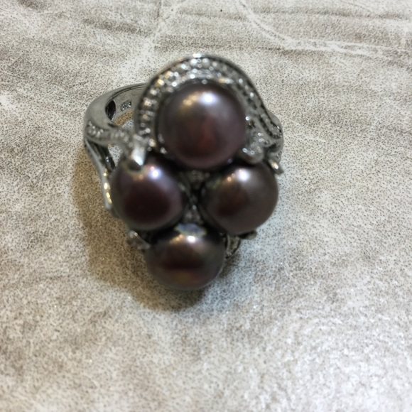 Karis Jewelry Black Pearl Ring Poshmark